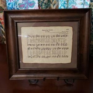 Amazing Grace framed music sheet